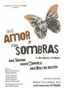 cartel de la obra el amor y sus sombras