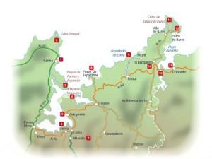 Mapa Ría de Ortigueira